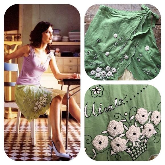 "Anthropologie Dresses & Skirts - Anthropologie Odille Wrap ""Italia Skirt"" Rare! NWT"